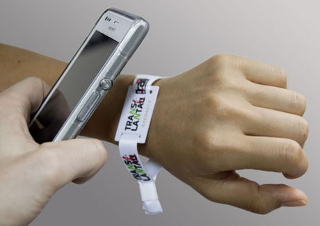 NFC wristband read with mobile phone
