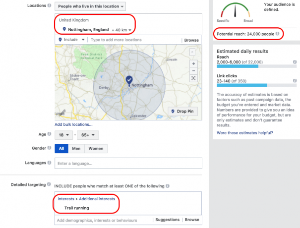 facebook ad audience targeting