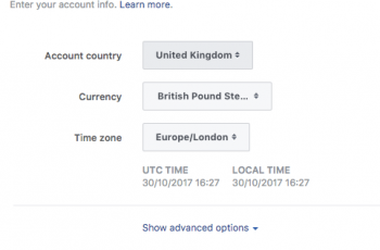 facebook ads finalise account