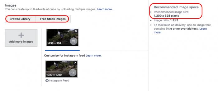 facebook ad pick image