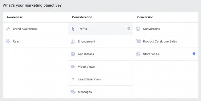 facebook ads pick objective