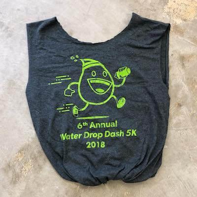 Reduce race waste - turn race T-shirt into bag