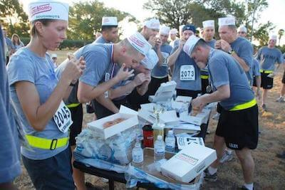 organize a donut challenge run