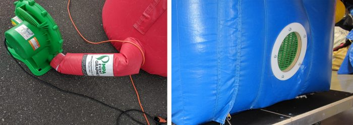 inflatable arch filler tube and blower