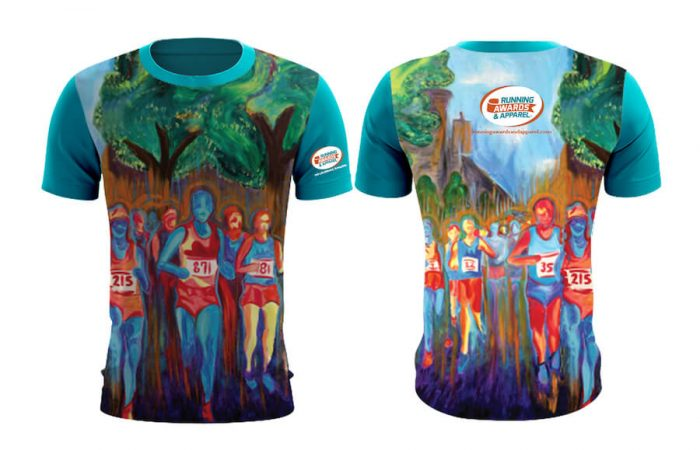Finisher T-shirts - fully sublimated shirt art proof