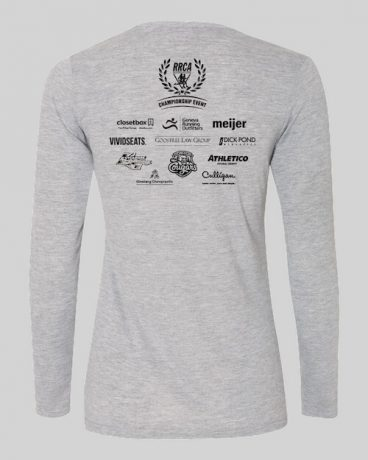 Finisher T-shirts - womens long sleeve fitted running shirt back